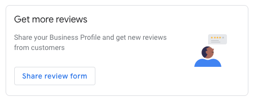 Google My Business share reviews button