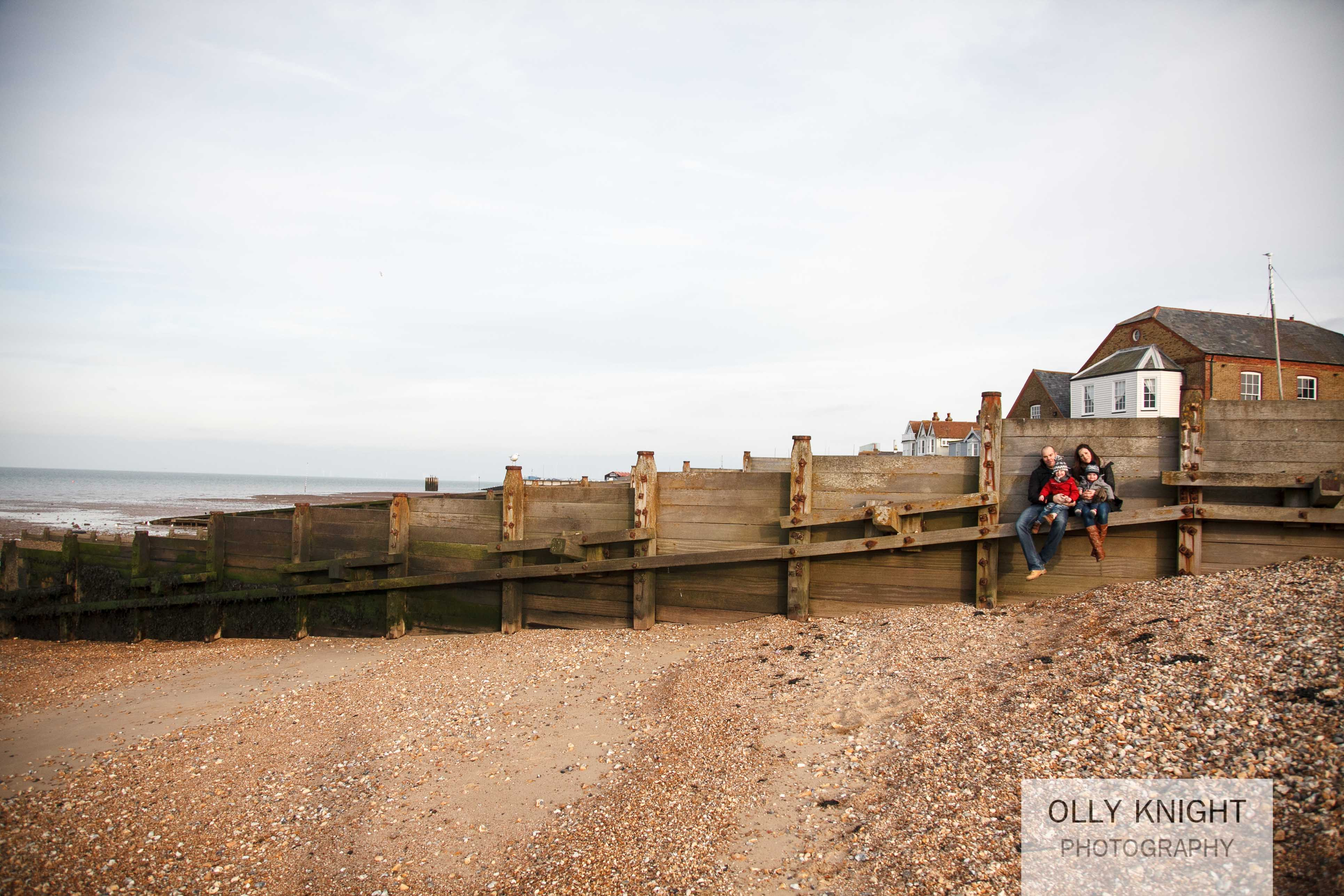 Dan & Kirsty Family Photo Shoot at Whitstable Beach