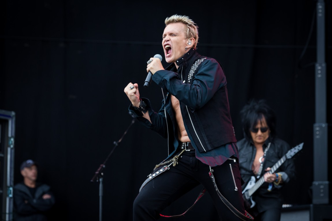 Billy Idol at Download Festival, Britain,14th June 2015