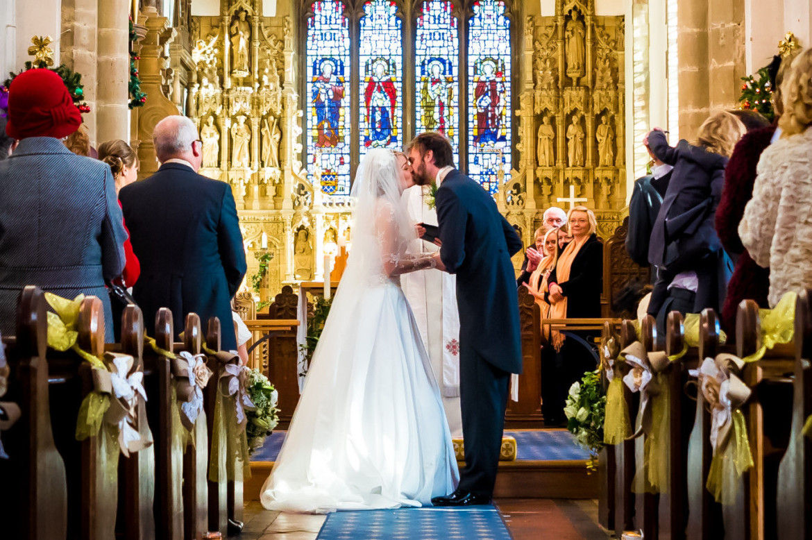 first kiss at a leicester wedding