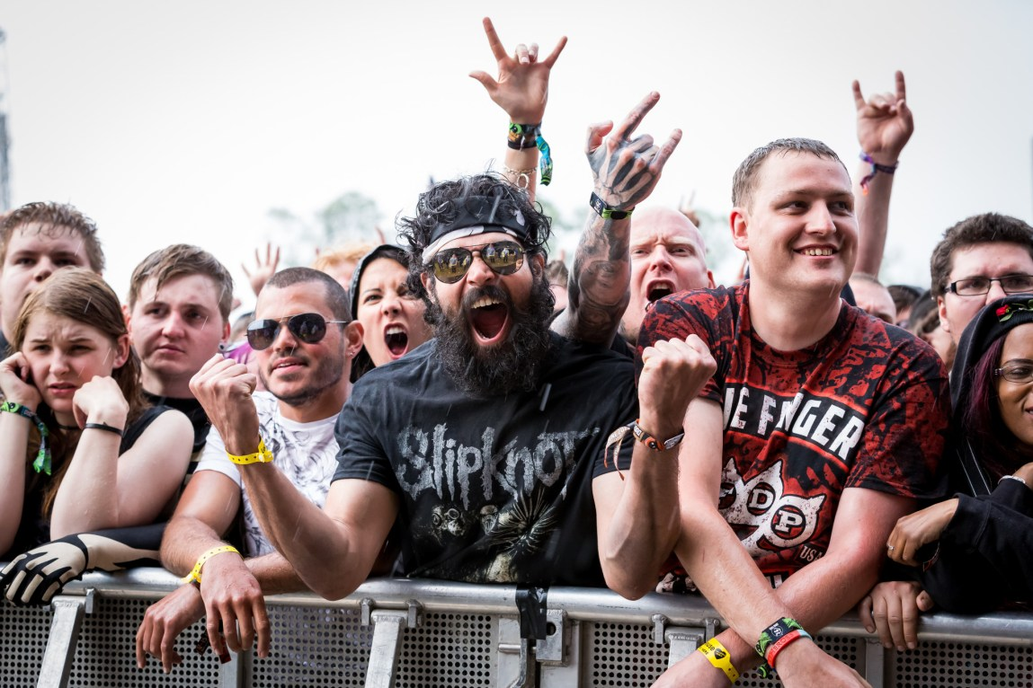 Crowd and Atmosphere  at Download Festival,  Britain, June 12th 2015