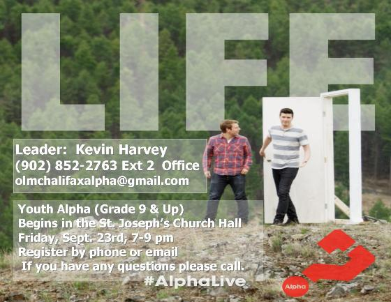 2016-09-02 Website Notice Youth Alpha Life Notice