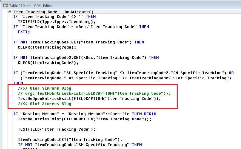 Item-Tracking-Code-Dynamics-NAV