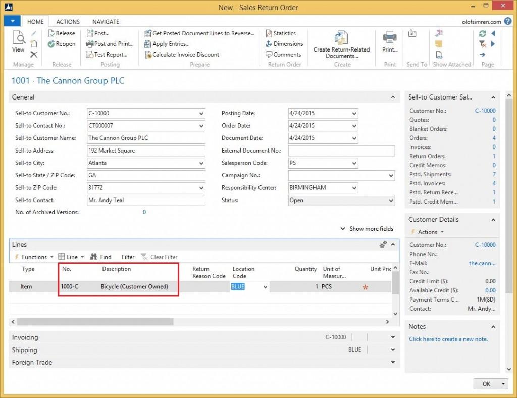 Sales-Return-Order-Customer-Inventory-Dynamics-NAV