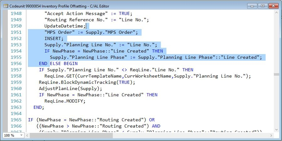 Selecting-Lines-in-CAL-Editor-Dynamics-NAV-2016
