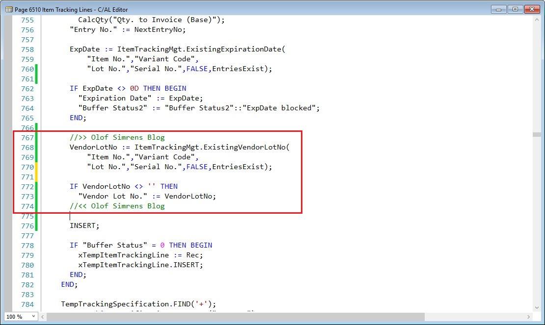 AddToGlobalRecordSet-Item-Tracking-Lines-Page-Dynamics-NAV
