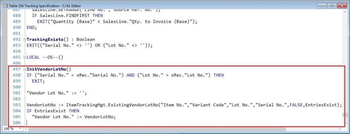 InitVendorLotNo-Tracking-Specification-Dynamics-NAV