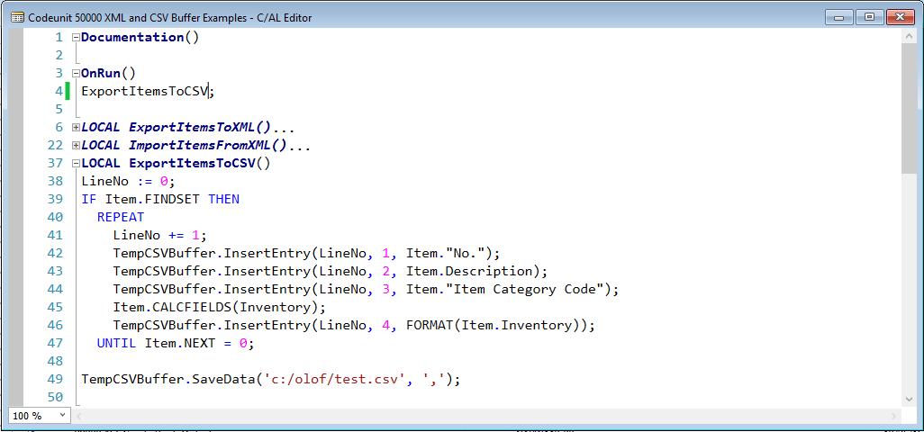 XML Buffer and CSV Buffer Tables - Microsoft Dynamics NAV