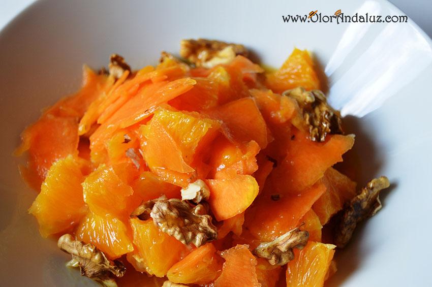 Ensalada de calabaza cruda y naranja  Olor Andaluz