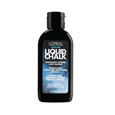 l oreal technique liquid chalk temporary intense hair makeup blue hue olori