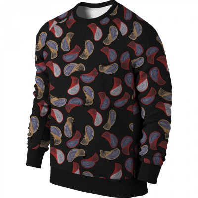 Olotu Chips Ankara African Print Sweatshirt