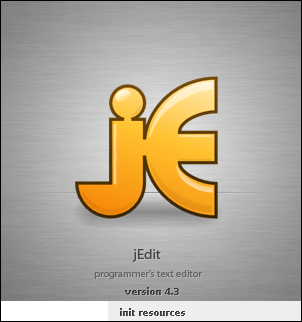 jEdit splash screen
