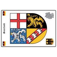 Wappen Saarland Zum Ausmalen   100 Flagge Ideen Flaggen ...