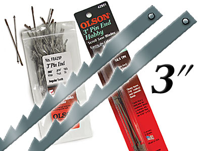 3-in. Pin End Blades 6-pack