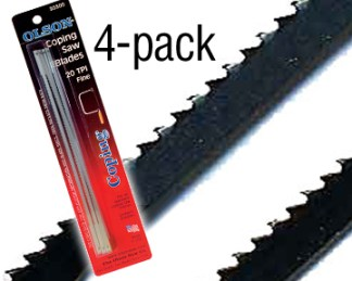 4-packs Coping Saw Blades 6-1/2in. long