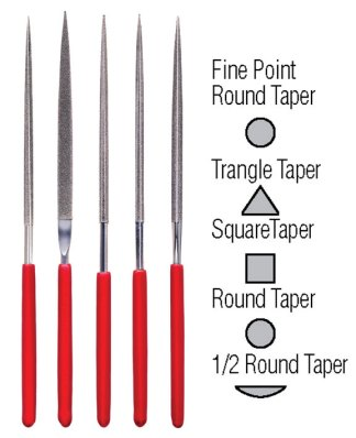 Fine Point Diamond Needle File Set