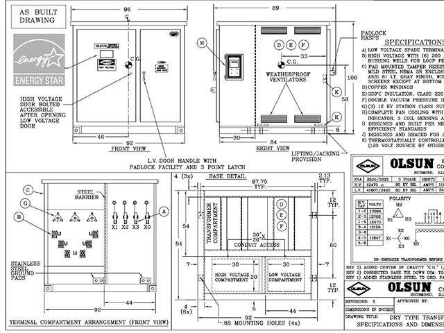 Olsun Transformer Wiring Diagram 1000 Kva Dry Type