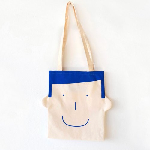 Bolsa de lona Sam, Canvas tote bag in blue by Olula