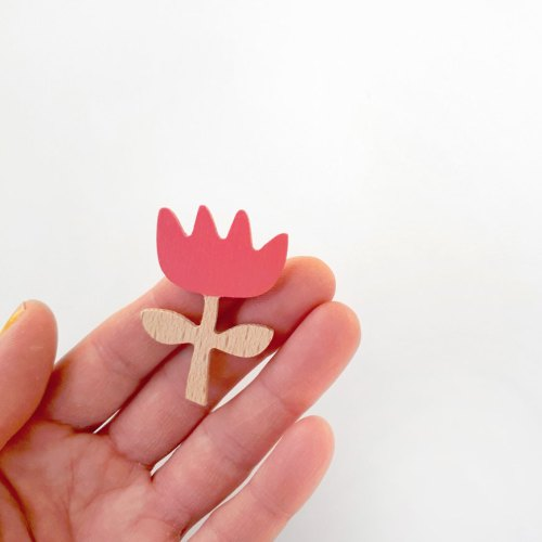 rose flower brooch