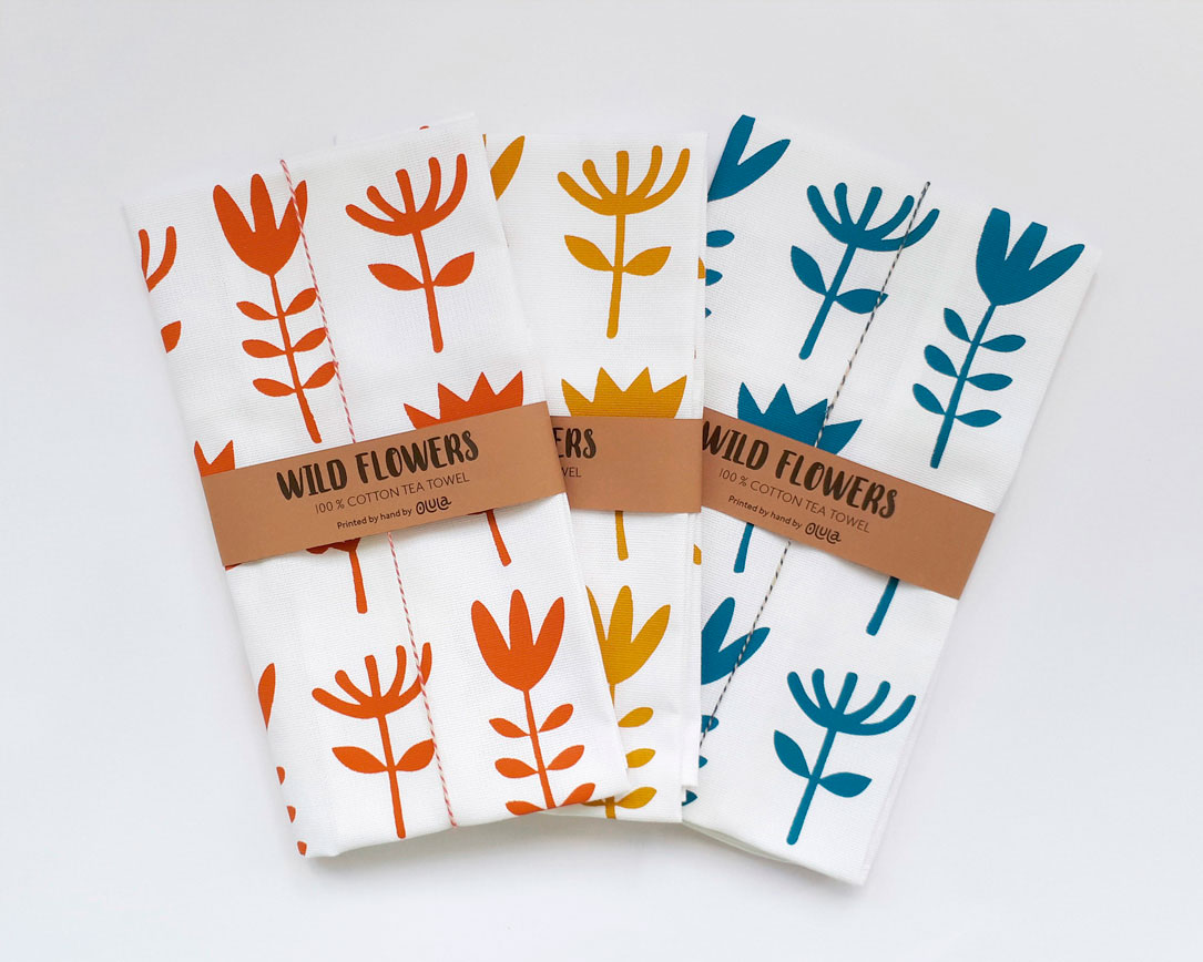 Tea towel Wild flowers