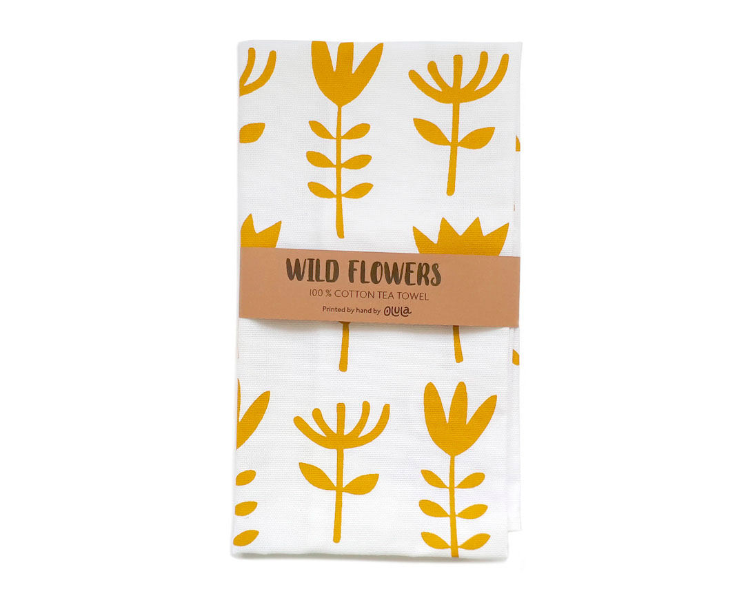 Tea towel Wild flowers