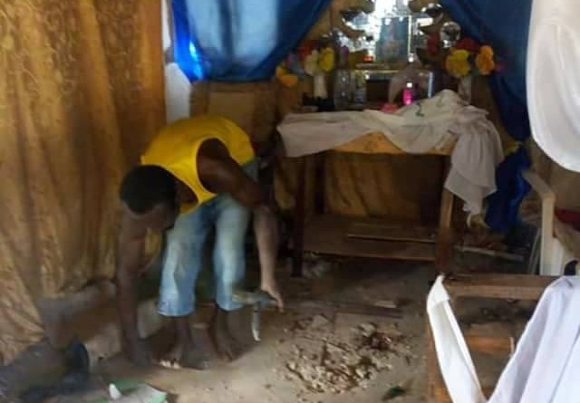 Pastor Kills A Prostitute For Rituals Buries Her Parts In His Altar (pics)