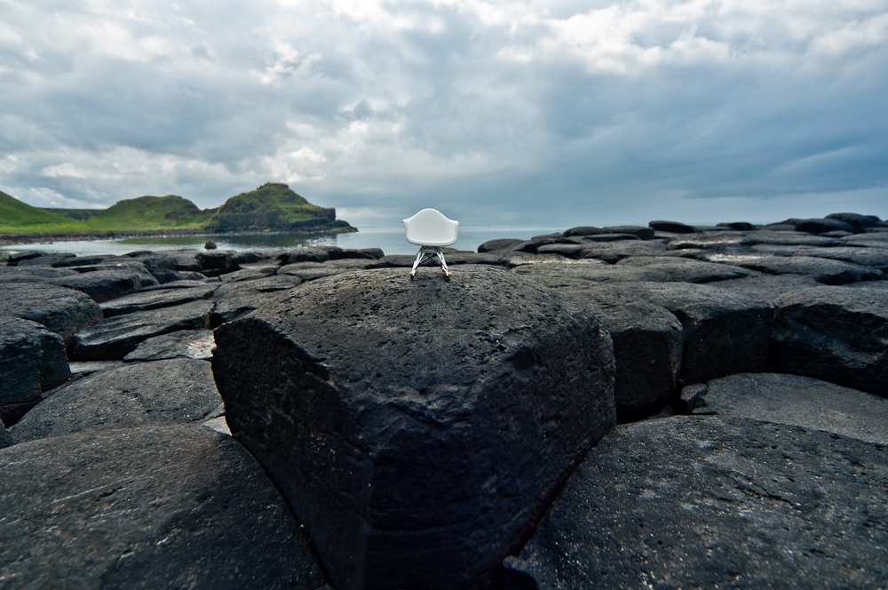 plastic stacking chairs canada table and chair covers giant's causeway, north ireland mini eames rar rocking - olya sanakoev miniature ...