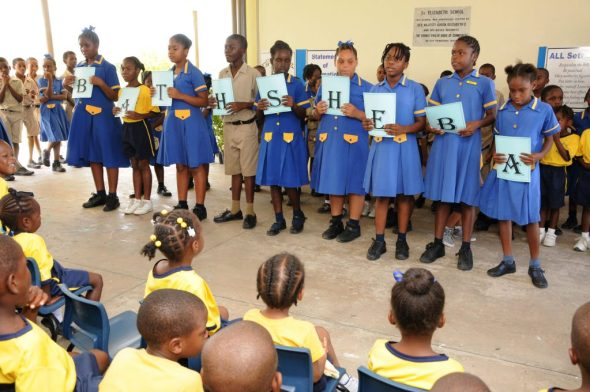 Welcome songs at St. Elizabeth Primary