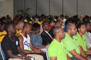 A section of the audience for the CAC Team Meeting