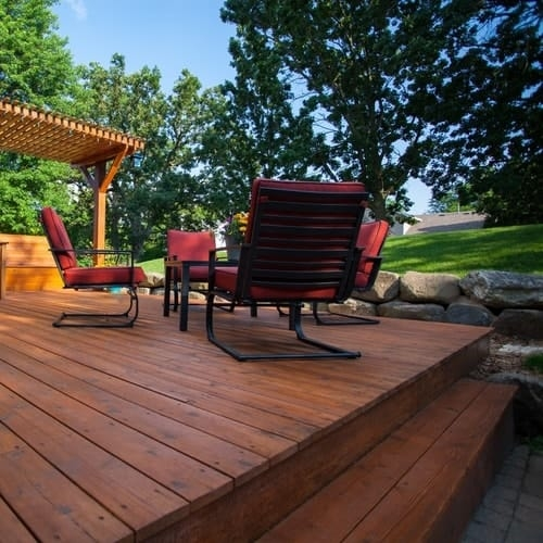 Top Deck Stain Colors For Pressure Treated Wood All Your Wood   Best Wood For Exterior Staircase   Stair Tread   Stair Landing   Stair Railing   Stain   Deck Stain
