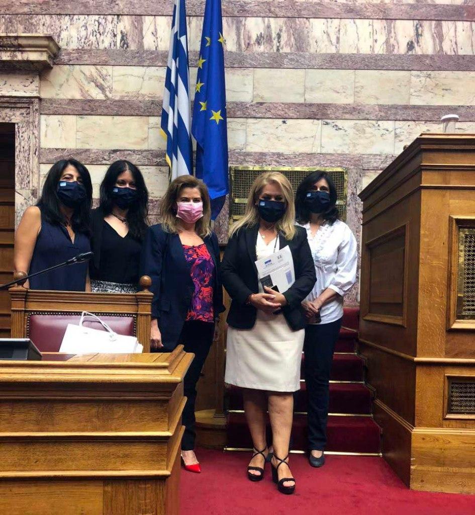 Μάνη | Προεδρεύουσα σε κοινή συνεδρίαση των Επιτροπών Βιβλιοθήκης της Βουλής Μορφωτικών Υποθέσεων