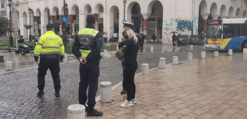Θεσσαλονίκη | Έλεγχοι και συστάσεις της αστυνομίας την πρώτη ημέρα του lockdown