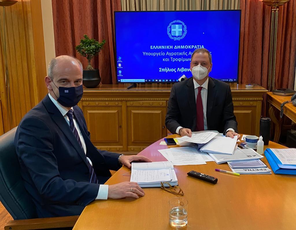 Μπαραλιάκος   Συνάντηση εργασίας με το νέο Υπουργό Αγροτικής Ανάπτυξης Σ.Λιβανό