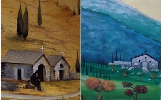 Ο σκηνοθέτης κ. Στάμος Τσάμης στο παλιό μοναστήρι του Αγίου Διονυσίου… για ανεύρεση χώρων για τηλεοπτική σειρά με θέμα τη ζωή του Αγίου Παϊσίου
