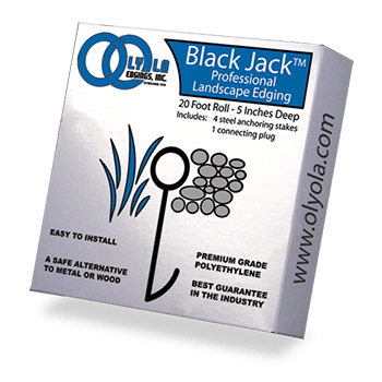 lawn edging roll - black jack