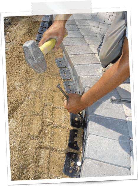 how to install brick edging