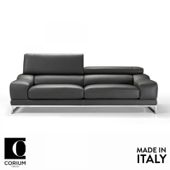 2 Seater Leather Sofa Next Loveseat Chair Covers Praga By Corium Italia | Om Furniture