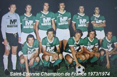 LHistoire Du Championnat De France 19731974 Les Verts Au