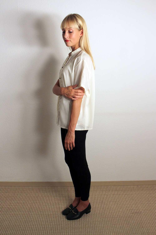 Vintage Bluse mit Spitze Briella  Oma Klara