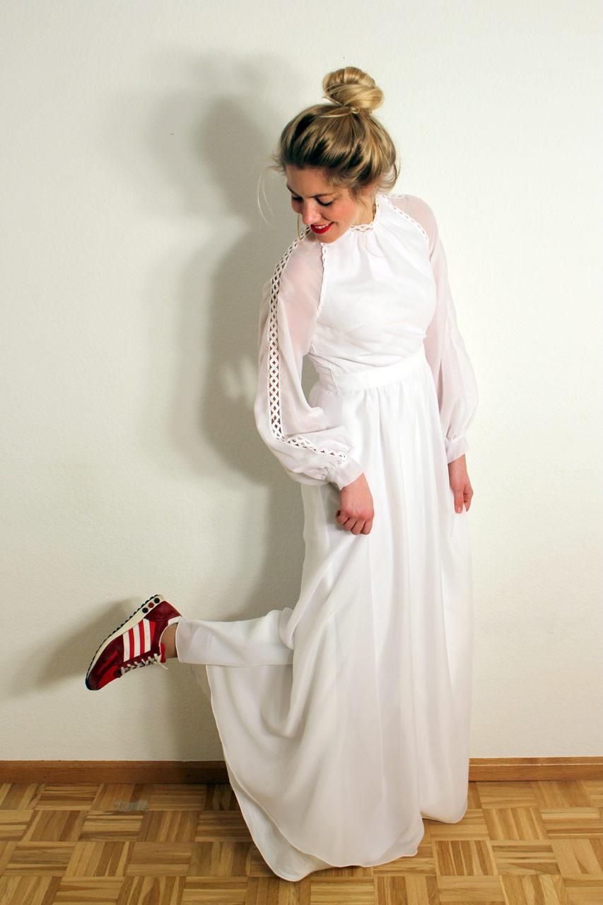 Vintage Brautkleid Langarm Scarlett  Oma Klara