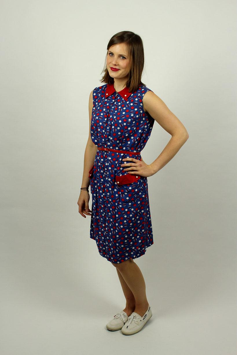 Kleid gepunktet kurz Pippi Lotta  Oma Klara
