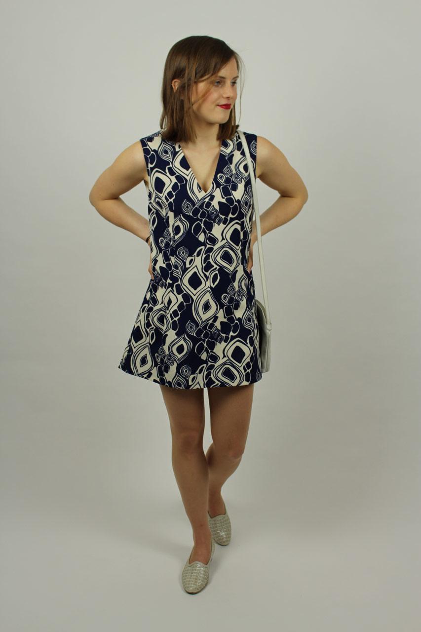 Kleid kurz dunkelblau Loretta  Oma Klara