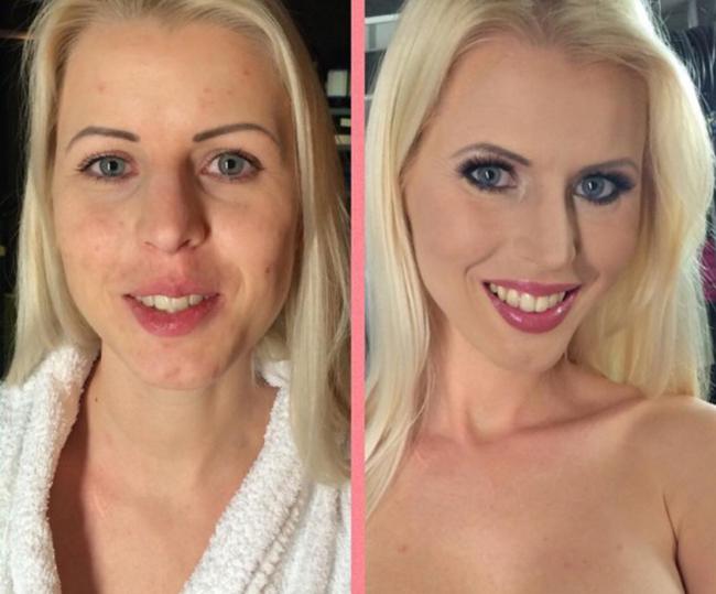 atrizes pornô, europeias, maquiagem