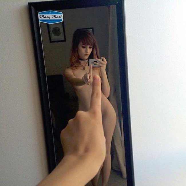 One finger selfie challenge
