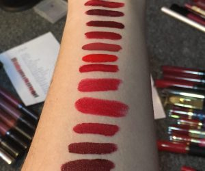 Lipstick swatch and destash-a-palooza part 1: Reds
