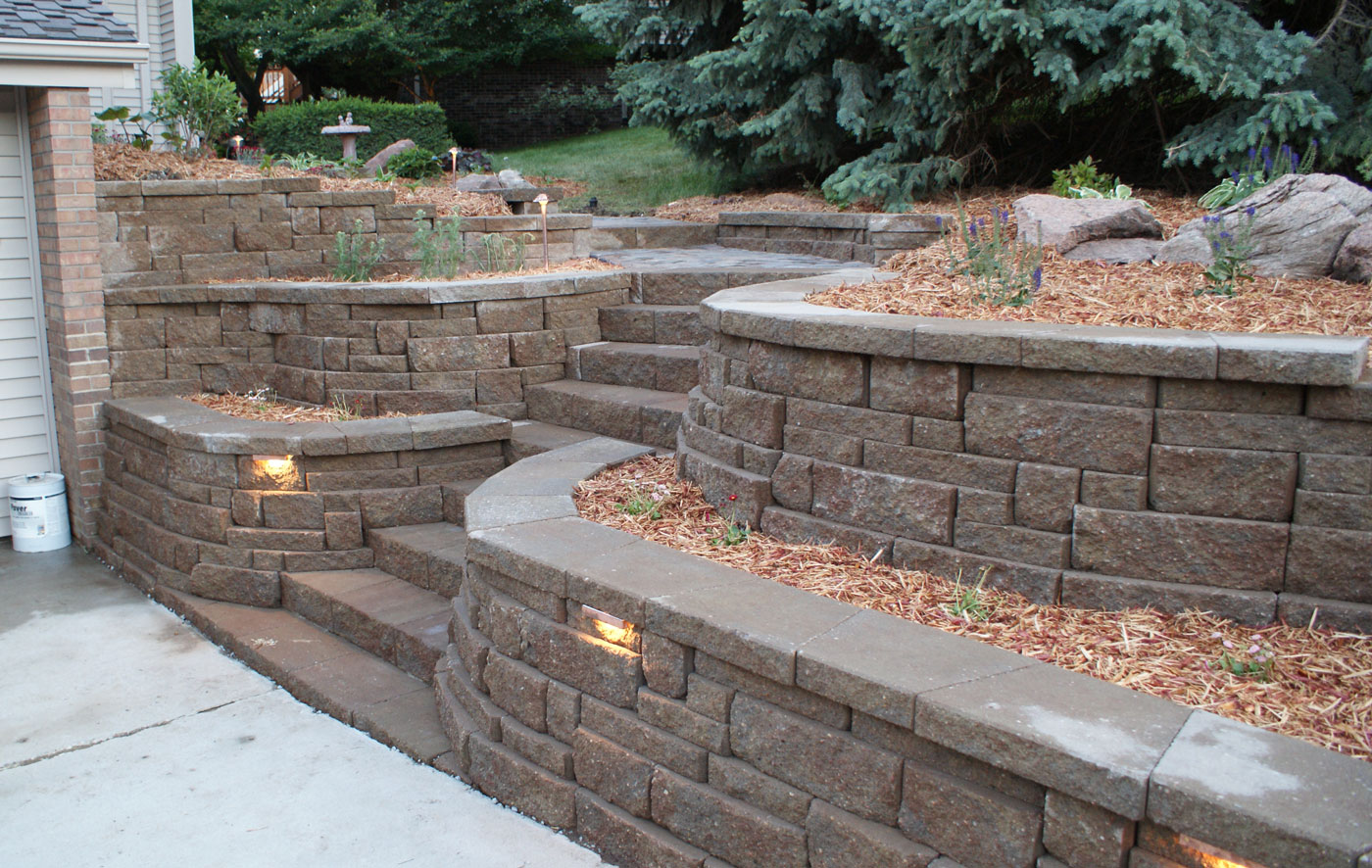 Retaining Walls  Portfolio of Images  Omaha Landscape Design