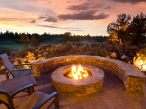 build wood burning fire pit