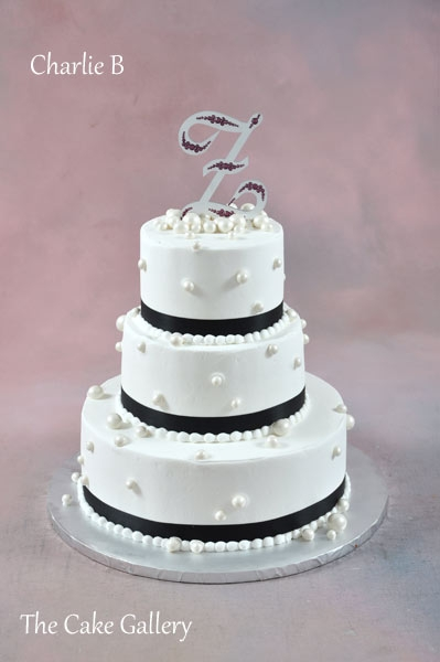 Black And White Blue And Purple Wedding Cake