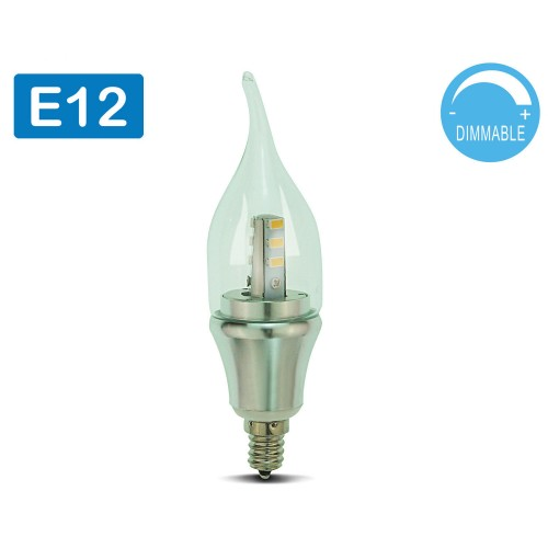 Led Candelabra Bulb Daylight Dimmable 4 Pack Omailighting E12 6w 60w 60 Watts Bullet Top