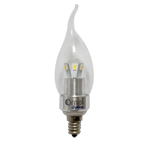 Us In Stock Pure White E12 Led Chandelier Bulb Candelabra Bent Tip Flamp 40 Watt Incandescent Replacement